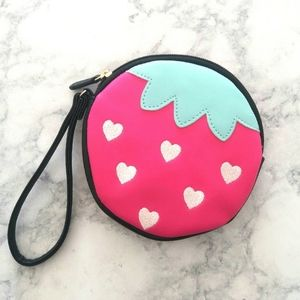 Betsey Johnson Strawberry Wristlet/Coin Purse